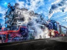 Transport, Rail Transport, Locomotive, Track Stock Photo