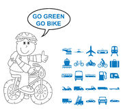 Transport Related Graphics Stock Image