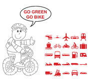 Transport Related Graphics Stock Photo