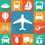 Transport related icons Royalty Free Stock Photos