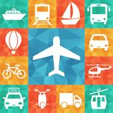 Transport related icons Stock Photos