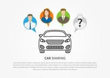 Transport renting service creative concept stock illustration