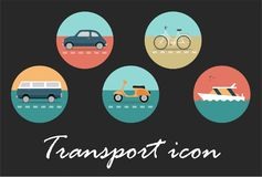 Transport retro icon royalty free illustration