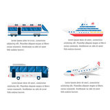 Transport road and air infographic vector. stock illustration