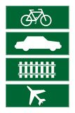 Transport road signs Royalty Free Stock Photos
