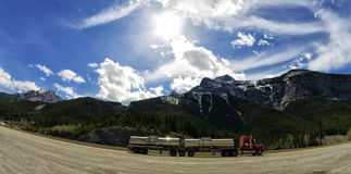 Transport in the rockies Stock Photography