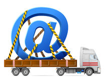 Transport routier de signe de courrier Image stock
