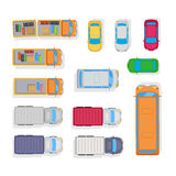 Transport Samochodu parking na Białym tle Fotografia Stock