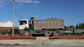 The transport scales. The tailing in Russia for transportation stock footage