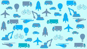 Transport seamless background Royalty Free Stock Images