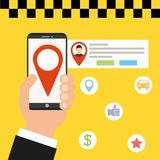 Transport service app technology icon Stock Photo