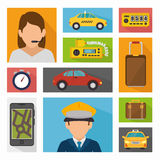 Transport service design Stock Image