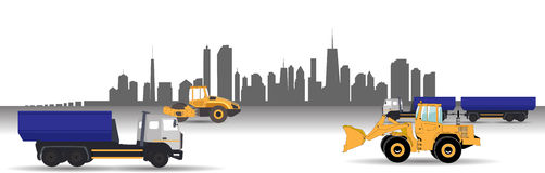 Transport Services in the City. Car. Vector Royalty Free Stock Photography