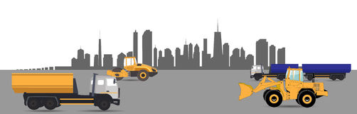Transport Services in the City. Car. Vector Stock Photos