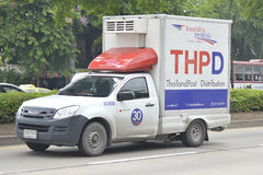 Transport Services Pickup truck of Thailand post Distribution Royalty Free Stock Image