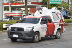 Transport Services Pickup truck of True Corporation. Bangkok,Thailand  Transport Services Pickup truck of True Corporation in Bangkok city thailand Stock Image