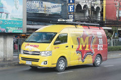 Transport Services van of M-150 energy drink Stock Photos