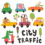 Transport set stock illustration