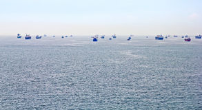 Transport ships Stock Image