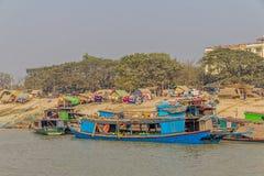Transport ships on Irrawaddi river Stock Photography