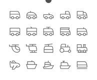 Free Transport Side View Outlined Pixel Perfect Well-crafted Vector Thin Line Icons 48x48 Ready For 24x24 Grid For Web Stock Image - 103312181