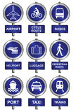 Transport sign collection Stock Photos