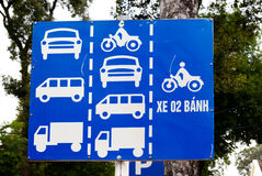 Transport sign Vietnam Royalty Free Stock Photography