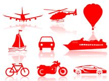 Transport silhouette royalty free stock photo