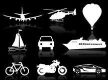 Transport silhouettes Stock Photos