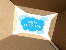 Transport solution seen from cardboard box Stock Photos