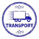 Transport Stamp Indicates Parcel Courier And Delivery Royalty Free Stock Images