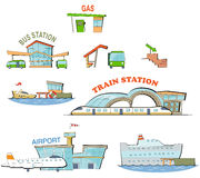 Transport stations Royalty Free Stock Image