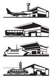 Transport stations with vehicles Stock Photo