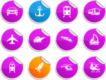 Transport stickers. Stock Photos