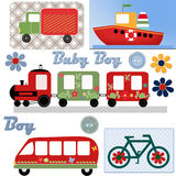 Transport stickers background Royalty Free Stock Photography