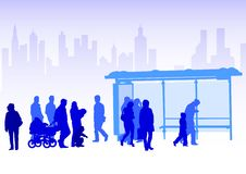 Transport stop people Stock Image