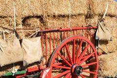 Transport of straw Stock Photo