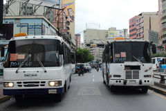 Vehicular Transport in Caracas. Transport in the city of Caracas Venezuela Stock Image