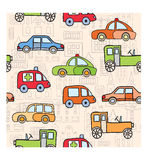Transport in the style of cartoon Royalty Free Stock Photography