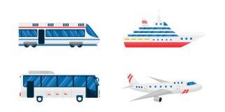 Transport symbols vector set. Royalty Free Stock Photos