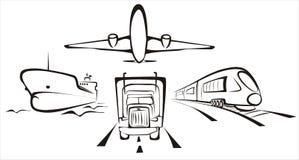 Transport symobol Lizenzfreies Stockfoto