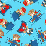 Transport teddy bear seamless pattern Royalty Free Stock Images