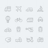 Transport thin line symbol icon Stock Photo