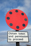 Transport token sign. Royalty Free Stock Photos