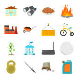 Transport, tourism, fitness and other web icon in cartoon style.Oil, education, sports icons in set collection. Stock Images