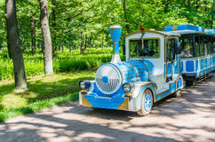 Transport for tourist in Peterhof Stock Photos
