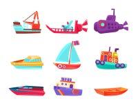 Transport Toy Boats Set de l'eau Illustration de Vecteur
