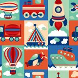 Transport toy seamless pattern stock illustration