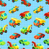 Transport toy seamless pattern Royalty Free Stock Photo