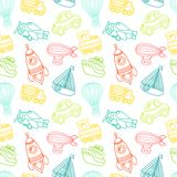 Transport toy seamless pattern Stock Photography